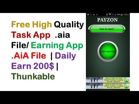 Free High Quality Task App  .aia File/ Earning App .AiA File