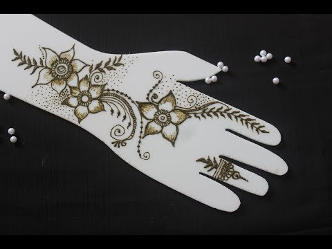 Quick and easy Arabic mehendi design for all occassions | Mehndi design for hand