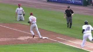 PHI@DET: Frandsen robs Prince of a hit in the first