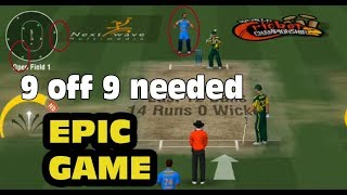 India vs Pak WCC2 Game play .Pak needed Just 9 off 9 balls you will enjoy sure!!
