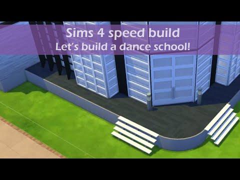 Sims 4 speed build   Let's build a dance school!