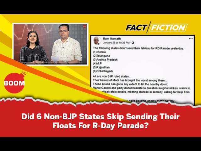 Fact Vs Fiction: Did 6 Non-BJP States Skip Sending Their Floats For R-Day Parade?