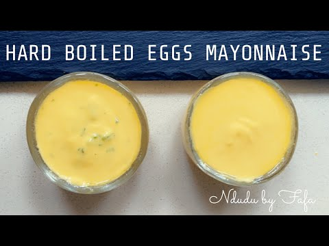 BOILED EGG YOLK MAYONNAISE DRESSING ✔️ HOW TO✔️includes tips to save a split Mayonnaise ✔️