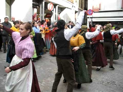traditional dance on street of Toledo, Spain