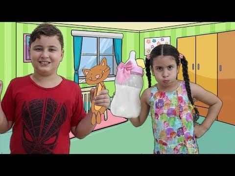 JP VIROU BAB脕 DA MARIA CLARA POR 1 DIA - Kids Pretend Play With Nanny