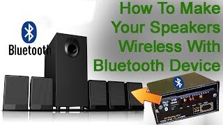 Convert Normal Home Theater or Woofer into Bluetooth Home Threater or Woofer at Home