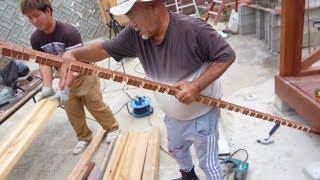 【師匠の挑戦】木材を綺麗に湾曲させる!【DIYウッドデッキ#26】