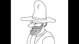 Farmer Pettson (pettson And Findus) How To Draw A Easy? Фермер Петсон Как нарисовать?