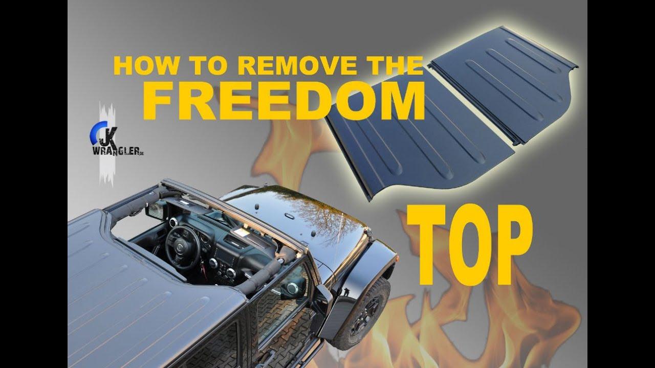 Jeep Wrangler JK How To Remove Hardtop Freedom Panels