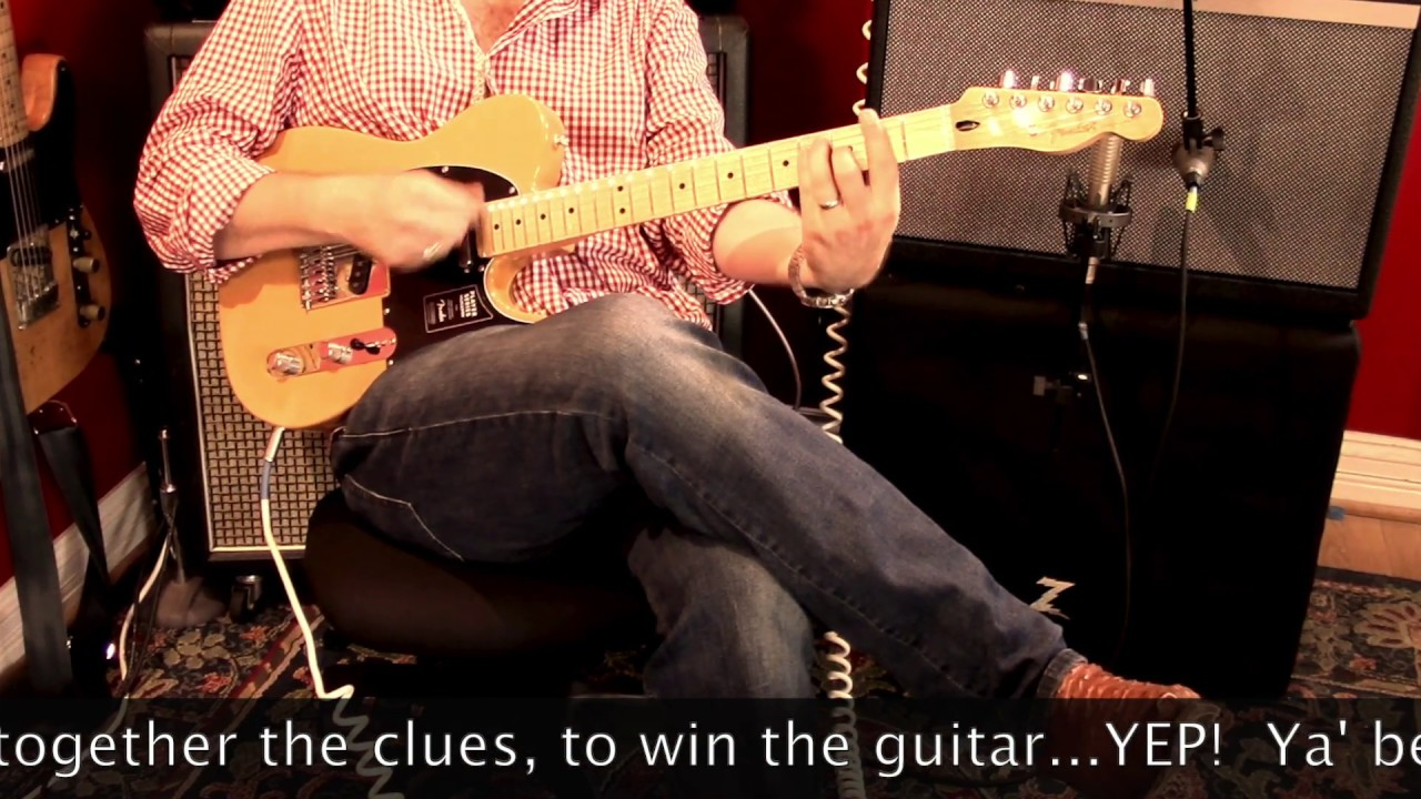GUITAR GIVEAWAY! Fender Players Series Telecaster SCAVENGER HUNT  announcement