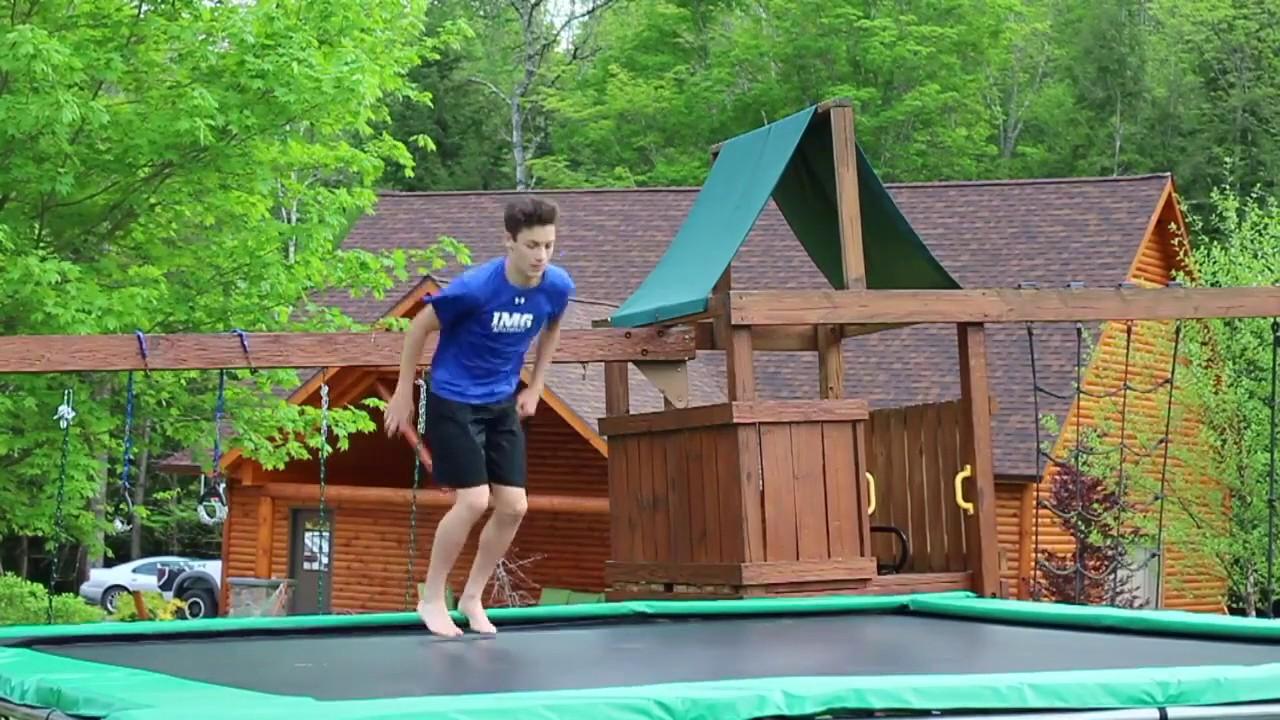 texas trampoline extreme green 15x17 youtube