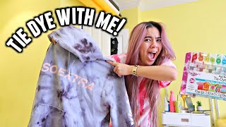 Tie dying youtuber merch because I'm bored and gotta stay home