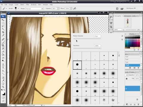 CG Painting วาดการ์ตูนด้วย Photoshop ตอนที่ 12 -  การตกแต่งส่วนที่เหลือของตัวการ์ตูน