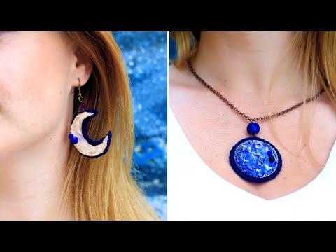DIY Hot Glue Moon Jewelry