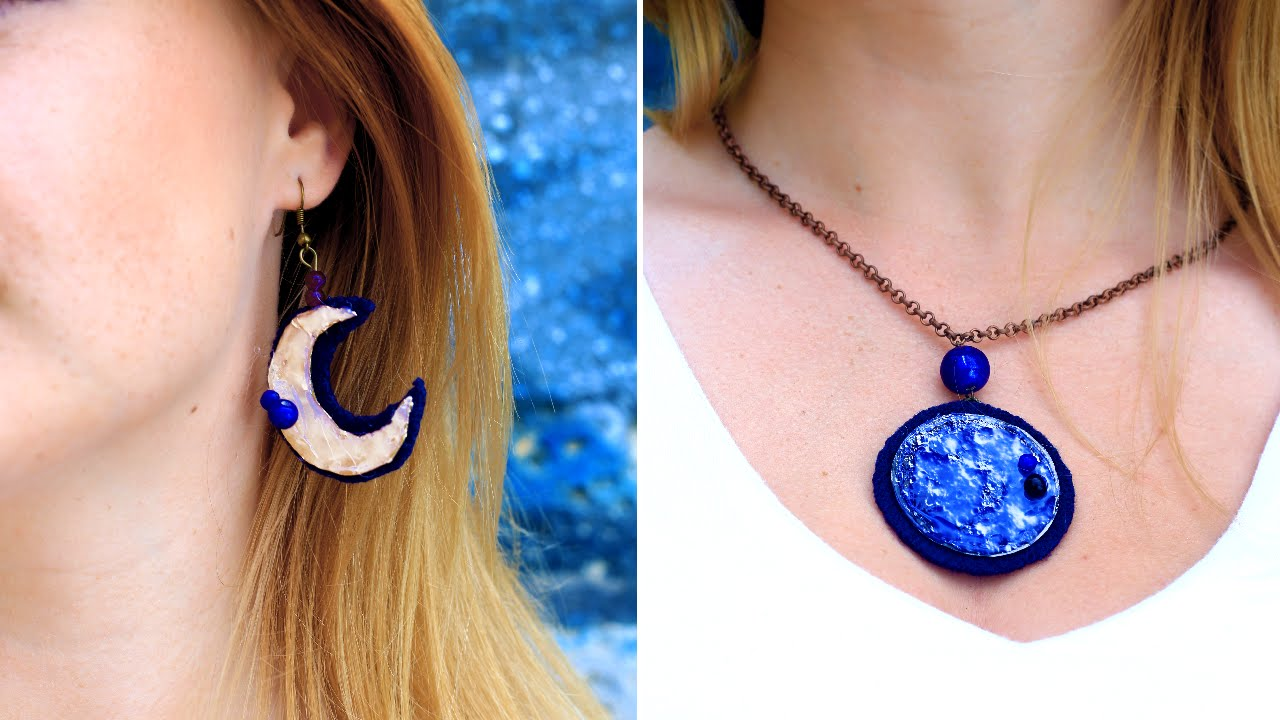 Diy hot glue moon jewelry youtube solutioingenieria Image collections