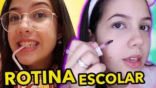MINHA ROTINA ESCOLAR!!! (MATINAL)