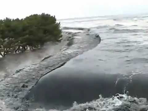 Amateur asian tsunami video footage