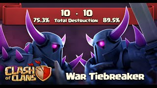 Clash of Clans NEW UPDATE WAR TIEBREAKER Never Tie Again!