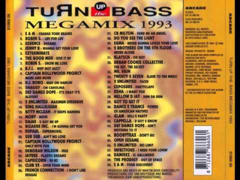Turn up the bass megamix 1993