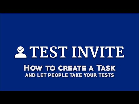 Test Invite Exam Software: How to Create a Task and Let People Take Your Tests