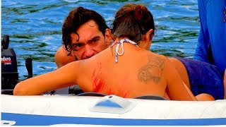 SSL 192 ~ Shascha hit by dinghy while snorkelling.. during preparations for Tropical Storm DON