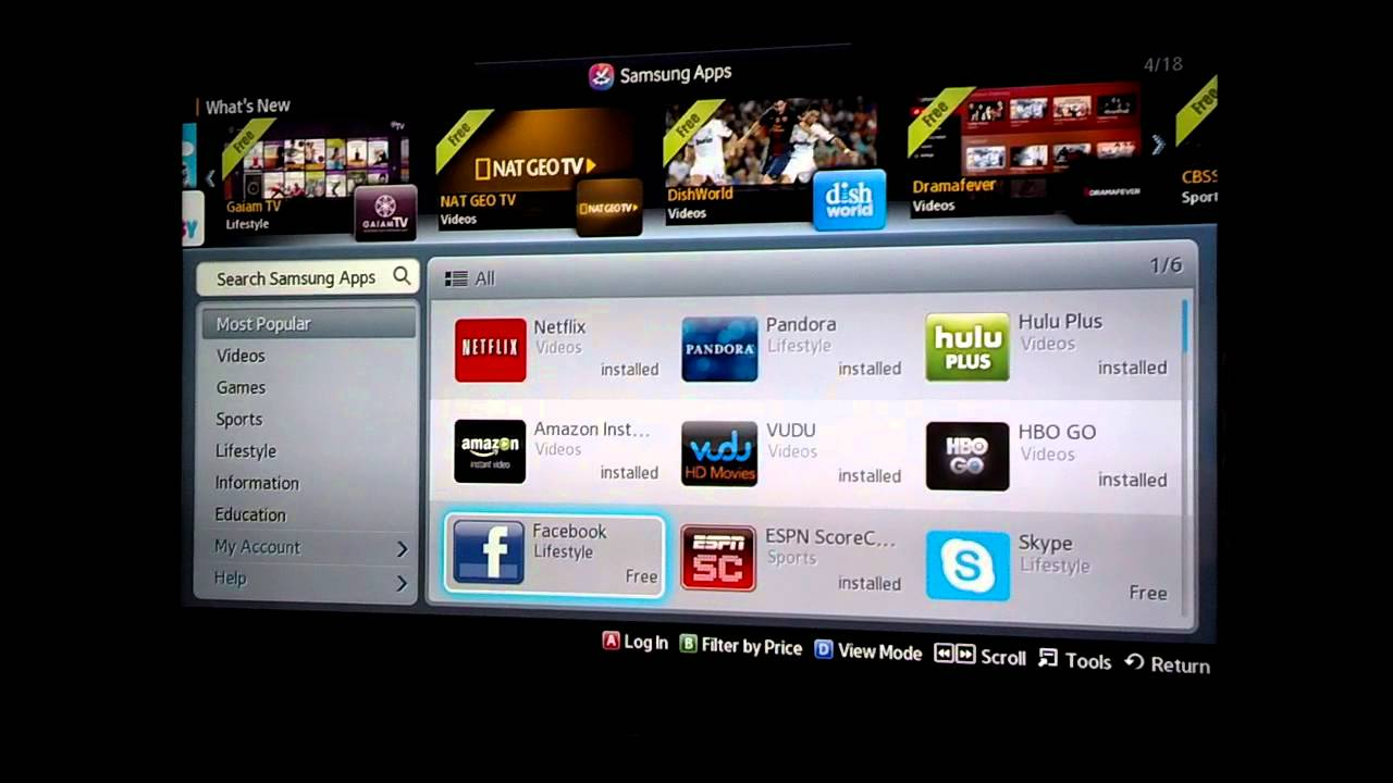 How to Install Apps on Samsung TV - YouTube