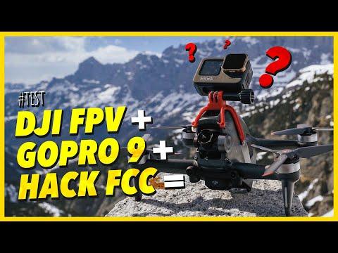 Download DJI FPV DRONE + GOPRO 9 + HACK FCC = CRASH TEST !