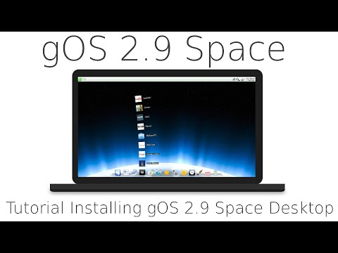 Tutorial Installing gOS Space Desktop and a quick tour, Good OS Linux, based on Ubuntu