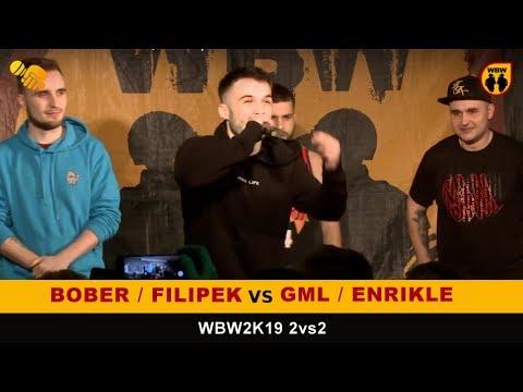Bober + Filipek vs Gml + Enrikle 🎤WBW2K19🎤 2vs2 (1/8) Freestyle Battle
