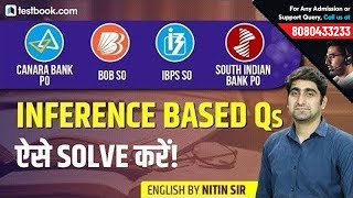 Canara Bank PO | IBPS SO | BoB SO | SIB PO | Inference based Questions | Nitin Sir thumbnail
