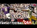 Madden 21 - Madden Tips and Tricks - Live Fantasy Football Q&A - Week 12 Steelers vs Ravens