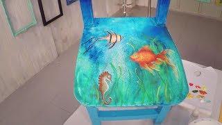 🖼 Técnica: Pintura decorativa en silla infantil