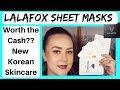 LALAFOX Sheet Masks Review and Updates  2017 New Korean Skincare & Makeup Brand at the Drugstore