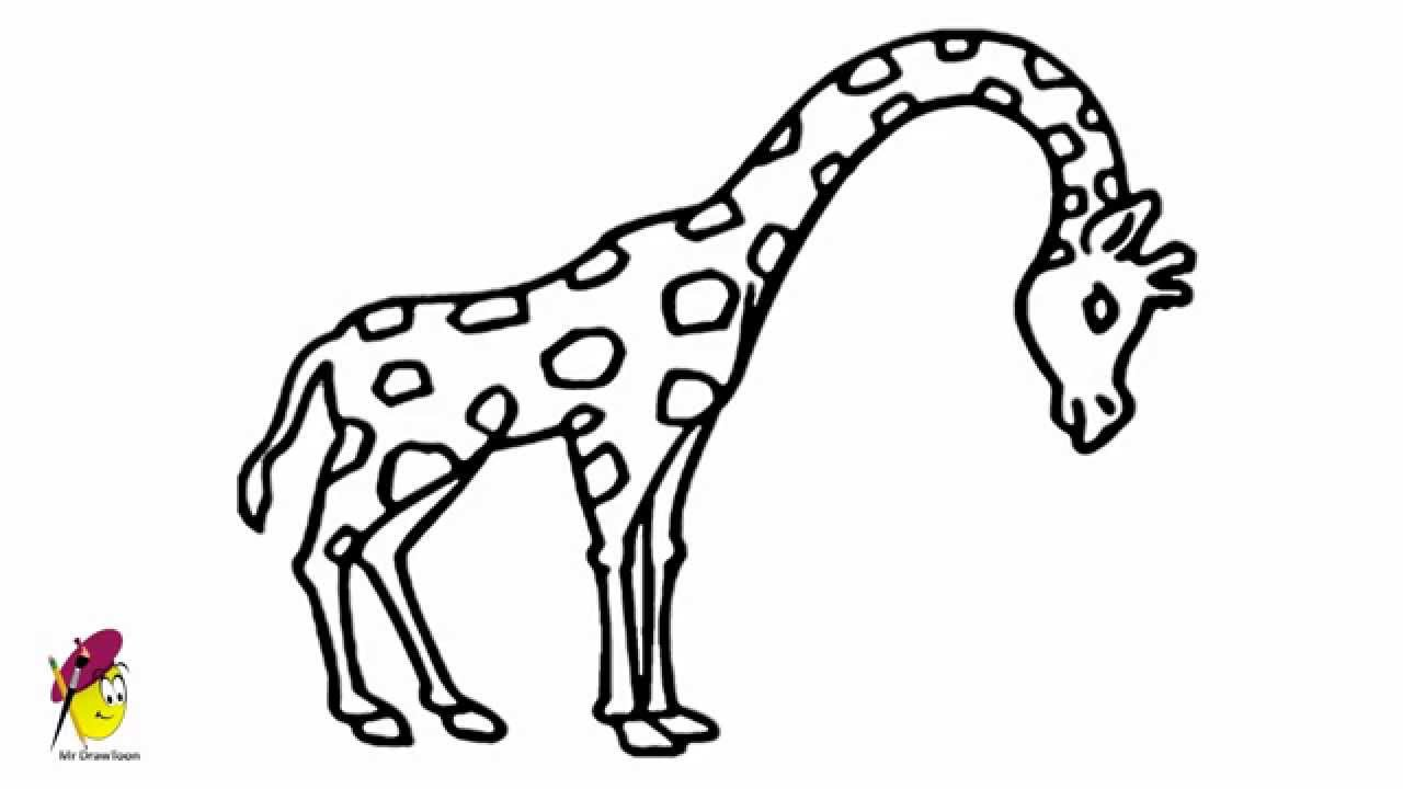 Uncategorized Giraffe Drawings giraffe easy drawing how to draw a youtube