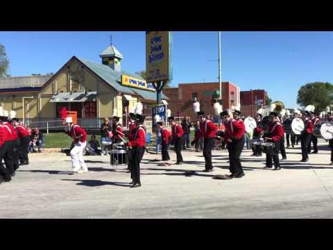 Fort Madison High School Bloodhound Marching Band Ottumwa Oktoberfest Parade 2015