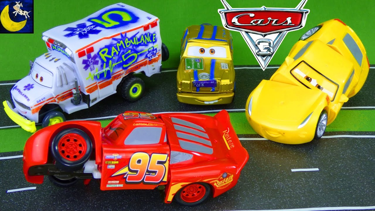 Disney Cars 3 Toys Crash, Race and Reck Lightning McQueen Cruz ...