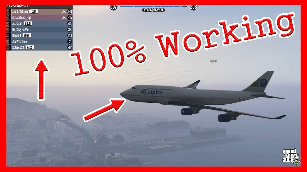 GTA 5 Online | Spawn And Fly Jumbo Jet In Freemode | PS4 | German