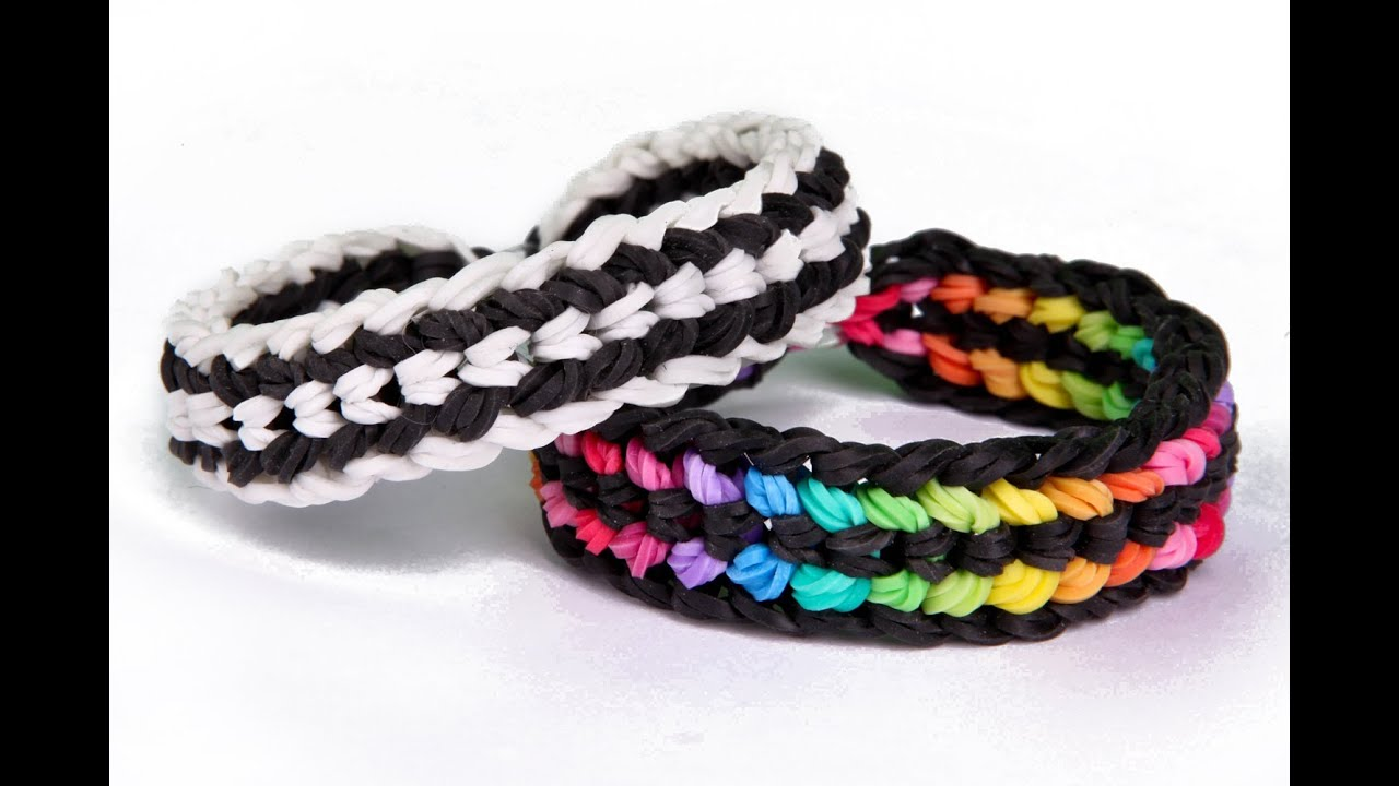 How to make a bracelet with mini rubber bands