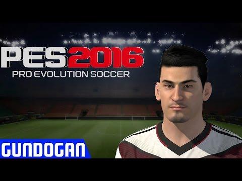 Pes 2016 Edit Face Gundogan + Stats