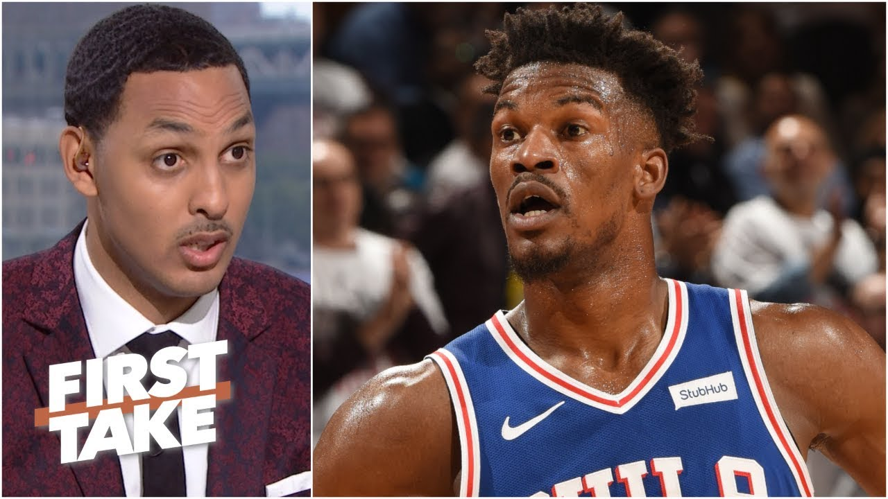 half off 439b4 ec68c Jimmy Butler not going to the Houston Rockets is ridiculous – Ryan Hollins  | First Take