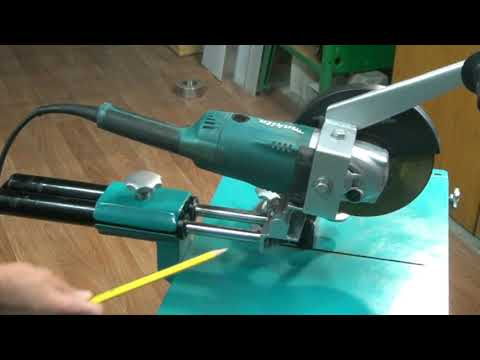 Стойка для болгарки с протяжкой. Stand for angle grinder with broach.