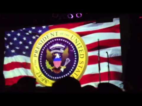 Falling in reverse - live funny intro/ Ronnie for president