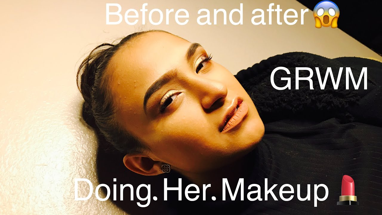 MY SISTER DOES MY MAKE-UP - YouTube