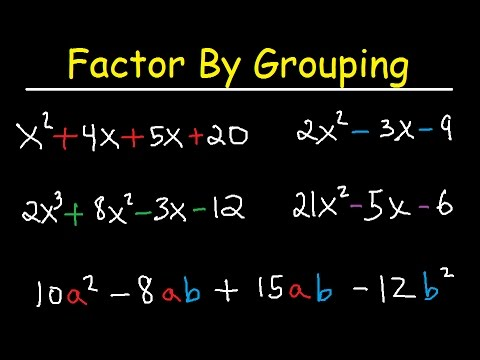 Factor By Grouping Polynomials - 4 Terms, Trinomials - 3 Terms, Algebra 2