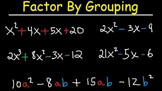 Factor By Grouping P๐lynomials - 4 Terms, Trinomials - 3 Terms, Algebra 2