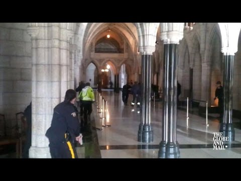 Ottawa: video shows gunfire and police swarming into Parliament