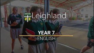 Year 7 - English
