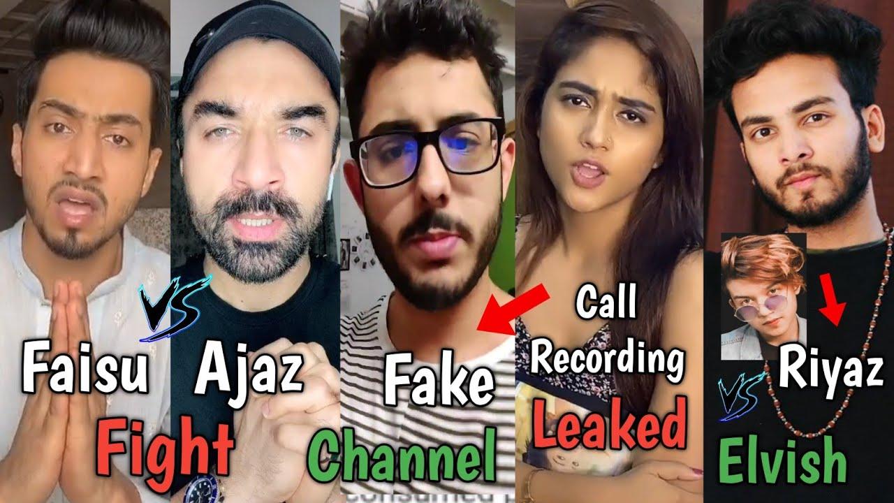 Faisu 07 Vs Ajaz Khan Fight, Carryminati, Nisha Guragain Call Recording Leaked, Riyaz Vs Elvish