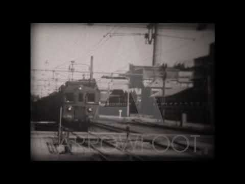 Vintage Footage of Cable Train in Sweden 1940s