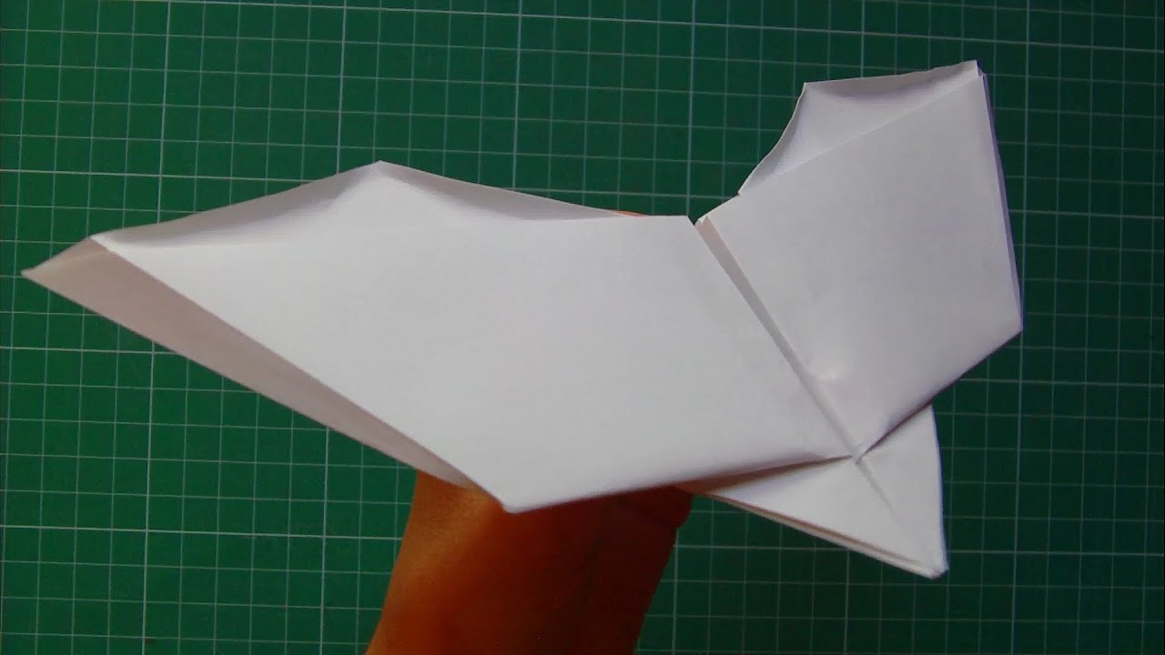 Tutorial Paper Plane Bat Flapping Wings Glider  John Collins -best Version